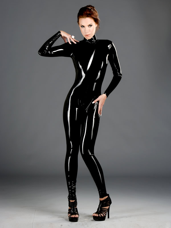 Latex catsuit porno