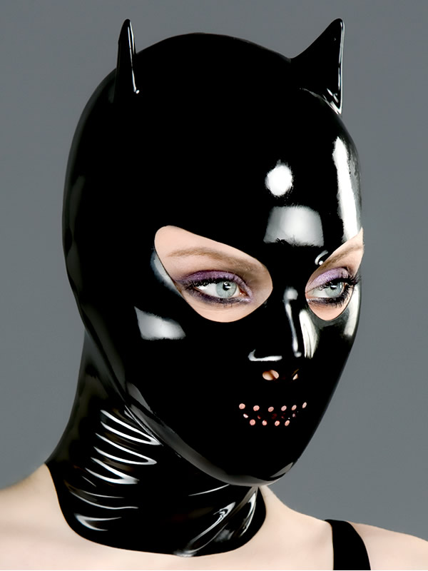 Shop latex masks devil mask with nose and perforated mouth
