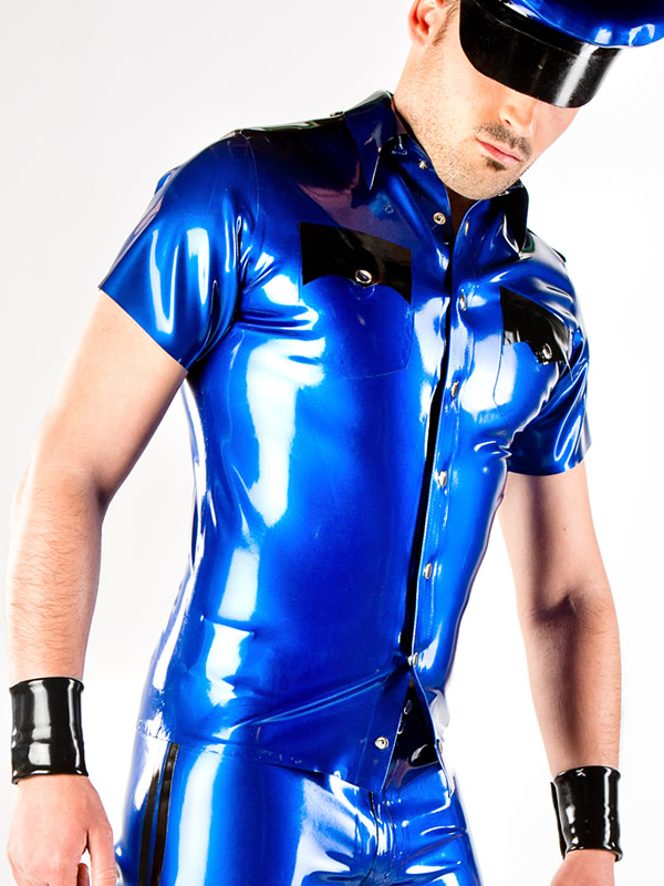 Mens latex shirts