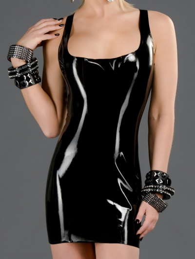 latex-cocktail-dress-dr-068-front