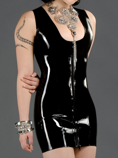 latex-elegance-dress-dr-132-front
