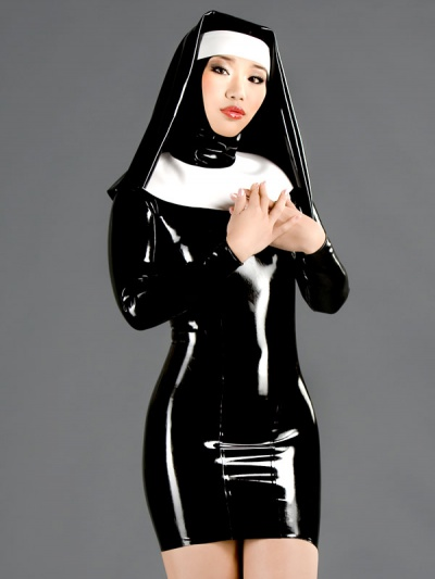 latex-long-sleeve-dress-dr-096blk