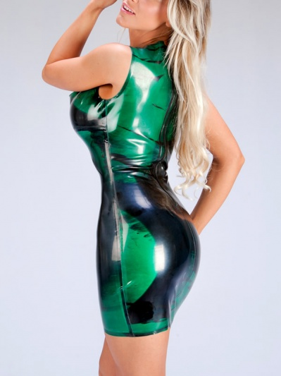 latex-dress-cowl-neck-dr-175mbk