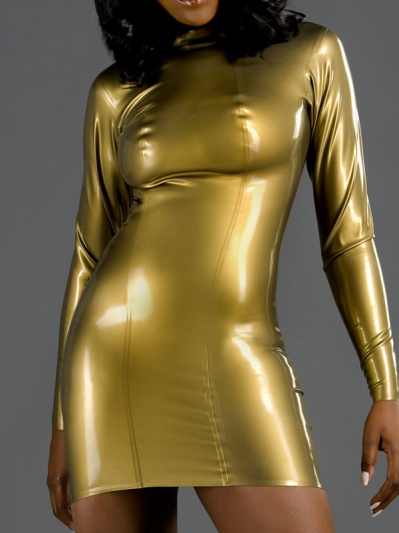 latex-long-sleeve-dress-dr-096-front