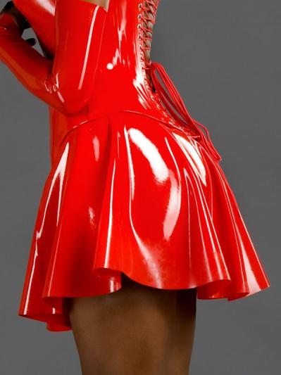 Original Honour Women39s Micro Full Circle Skirt In Latex Rubber Black Sexy